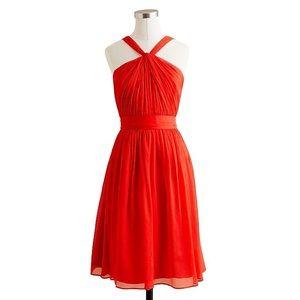 J. Crew Petite Sinclair Dress in Silk Chiffon